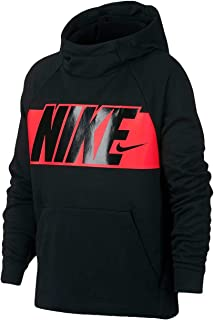 Boy's Graphic Training Pullover Hoodie Black/Bright...