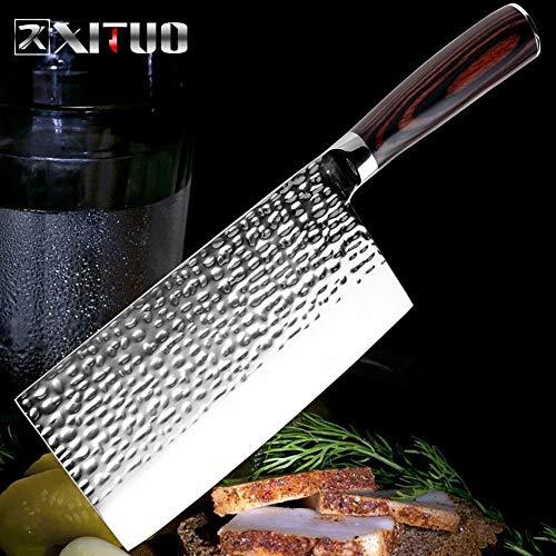 Scherp Chef Roestvrijstalen Mes Smeden Anti-stok Sharp Cleaver Fish groente Chinese Kitchen Knife Household Koken Gereedschap Duurzaam