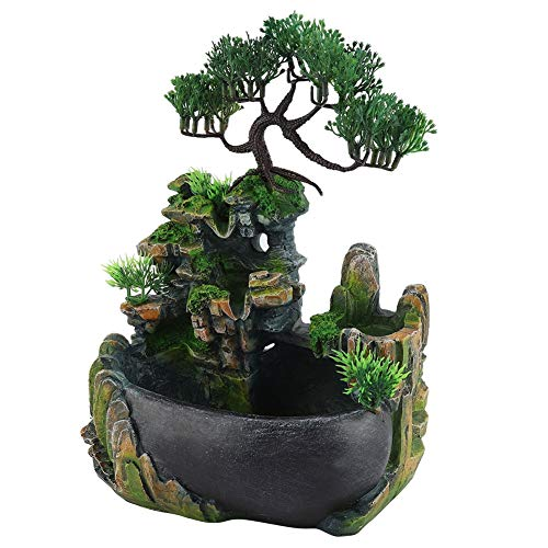 Desktop-Brunnen, Wasserfall Desktop-Brunnen mit Zen Meditation Wasserfall für Zuhause, Büro, Schlafzimmer Dekoration