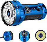 Olight Marauder 2 14000 Lumens Rechargeable LED Flashlight X7R Upgrade, Spot and Flood Beam Ultra Bright Soda Can Size Search Light with Built-in Battery Pack and Charger (Blue, Limited Edt.)
