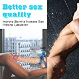 Jaula de amplitud azul de silicona duradera Juguete de amor de estimulación para hombres mejorado con Bullet Lock You and Make You Long