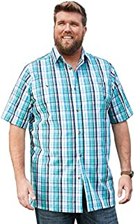 KingSize Men's Big & Tall Short-Sleeve Plaid Sport Shirt