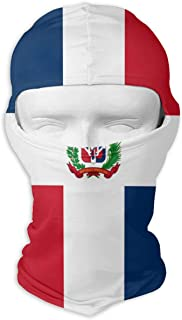 Huitong Shengshi Flag of The Dominican Republic Unisex Outdoor Sunscreen Windproof Mask Neck Scarf Balaclava Headgear Hood Motorcycle Cycling Fishing Face Mask