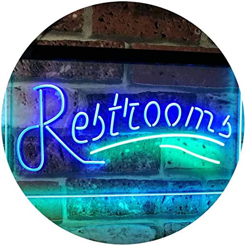 ADVPRO Restroom Classic Display Café Restaurant Dual Farbe LED Barlicht Neonlicht Lichtwerbung Neon Sign Grün & Blau 400mm x 300mm st6s43-i3034-gb