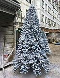 ASDF Árbol de Navidad de bosque de nieve, grande aburrida, árbol de Navidad, adornos de Navidad con soporte de metal y pino de 300 cm