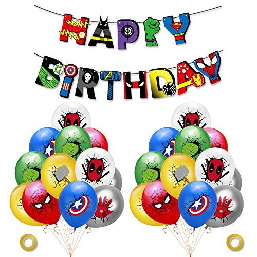 27Pz Supereroi Avengers Palloncini Supereroe Happy Birthday...