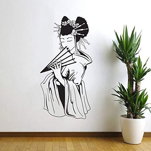 wZUN Japanische Geisha Schöne Wandaufkleber Schöne Orientalische Frau Wandaufkleber Wohnkultur Wandaufkleber Raum Art Deco 50x100cm