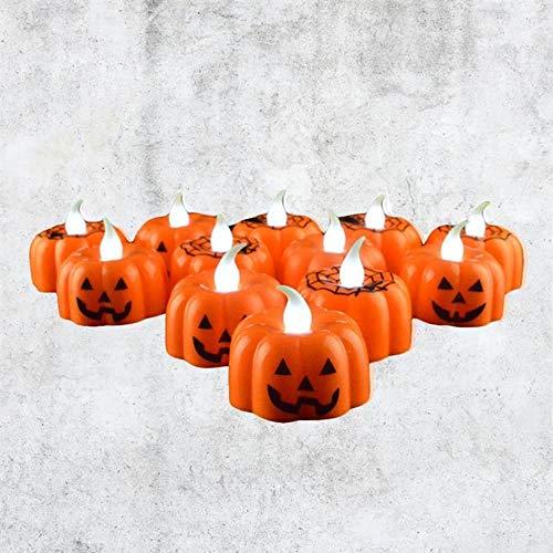 Lantaarn Pompoen Ontwerp Duurzame LED Binnen Kleine Kaars Lamp Kaars Lantaarn voor Festival Halloween Party Decoratie KTV