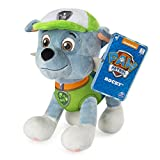 "Paw Patrol – 8"" Rocky Plush Toy, Standing Plush with Stitched Detailing, for Ages 3 & Up"