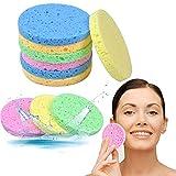 10 Piezas de Esponjas Faciales, Esponja de Celulosa Desmaquillantes Reutilizables, Esponja de...