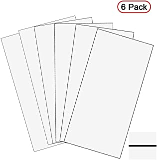 """XLNT Engraving Double Color Sheet, White/Black (12"""" x 24"""" x .060"""", 6 Pieces) for Interior Signs, Badges."""