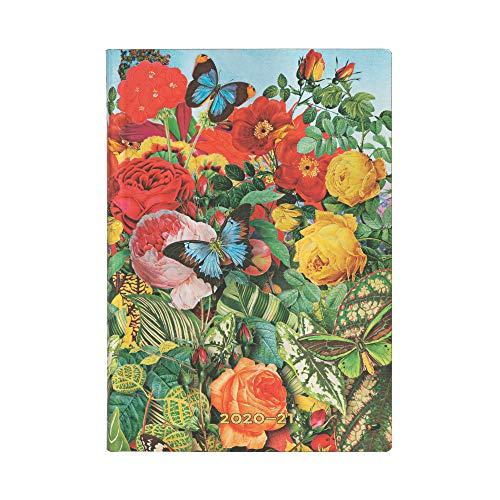 Paperblanks FI6544-9 Agende Flexi a Copertina Morbida di 18 Mesi 2020-2021 2021 Jardin aux Papillons   Orizzontale   Midi (130 × 180 mm)