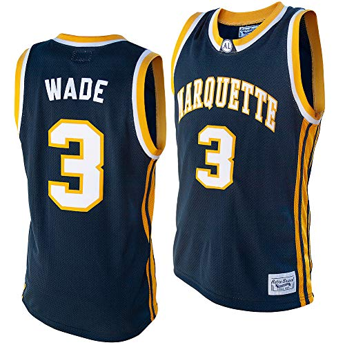 Elite Fan Shop Dwyane Wade Retro Marquette Basketball Jersey - XX-Large - Dwyane Wade Navy