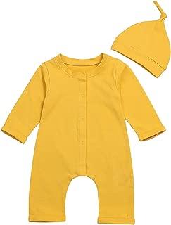 yellow baby footie pajamas