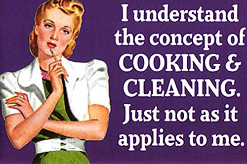I UNDERSTAND THE CONCEPT OF COOKING & CLEANING. JUST NOT AS IT APPLIES TO ME FUNNY KÜHLSCHRANKMAGNET