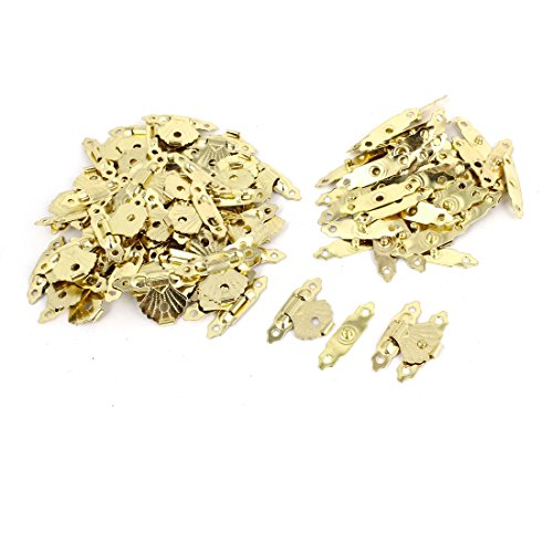 50 pcs Metall Mini Flower Leaf Schmuck Fall Box Lock Haspe Staple Set de