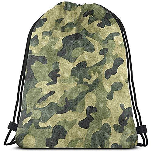 wallxxj Drawstring Bags Camuflagem Pull String Bags Bulk Sports Mochila Almacenamiento Gimnasio Camping Mochila Adultos Mochilas con Cordón Picnics