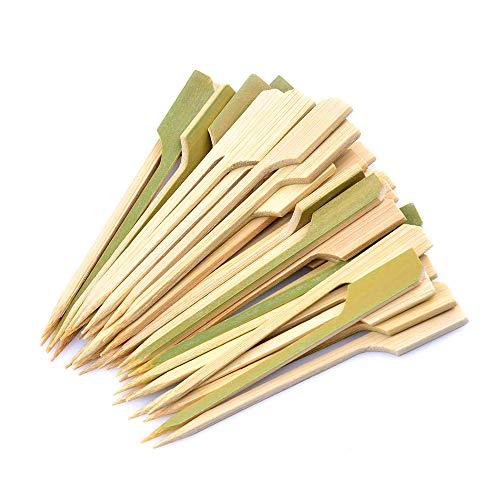 Bocotoer Bamboe Spiezen Houten Stokken Geweldig voor Grill Party Sandwich Marshmallow 9cm 100 Stuks
