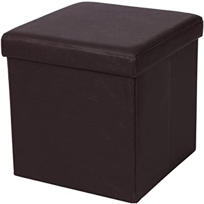 Remarkable Amazon Com Nisuns Ot01 Leather Folding Storage Ottoman Cube Alphanode Cool Chair Designs And Ideas Alphanodeonline
