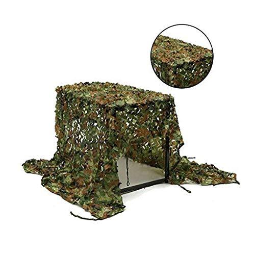 Qji-vangtype groen camouflagennet, 2 x 3 m, decoratie voor de tuin, net, schaduw, bescherming in de open lucht, net, zonnescherm, fototent