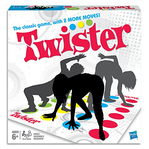 Twister - Iconic Gameplay - Put Hands and Feet On The Mat Without Falling - Indoor and Outdoor Activity - 2+ Players - Family Board Games and Toys for Kids - Boys and Girls - 98831 - Ages 8+
