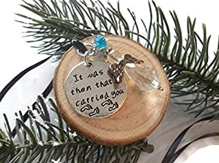 Angel Wood Ornament Footprints Quote Rustic Decor Wooden Diffuser Charm Mirror Accessories