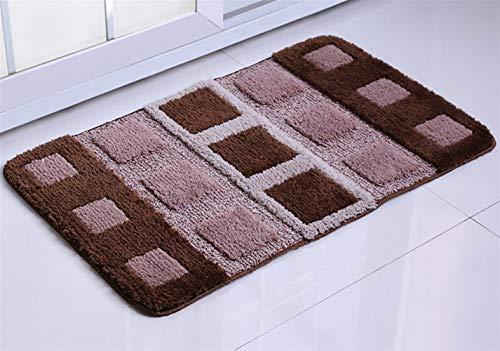 Ommda rechthoekige badmat met antislip-laag, voor badkamer, keuken, slaapkamer, 40x60cm dieprood