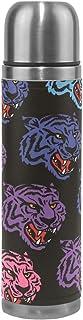 Ahomy Head Wild Tiger - Termo de Acero Inoxidable Aislado al vacío, Botella de Agua, Taza de café de Viaje, 500 ml