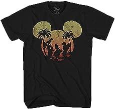 Disney Mickey Mouse Donald Duck Goofy Sunset Disneyland World Funny Mens Adult Graphic Tee T-Shirt