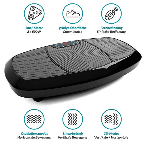 Bluefin Fitness Dual Motor 3D Vibration Platform   Oscillation, Vibration + 3D Motion   Huge Anti-Slip Surface   Bluetooth Speakers   Ultimate Fat Loss   Unique Design   Get Fit at Home