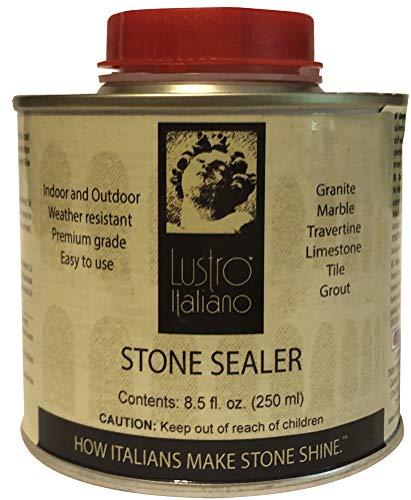 Lustro Italiano Ultra Premium Stone Sealer, 8-1/2-Ounce