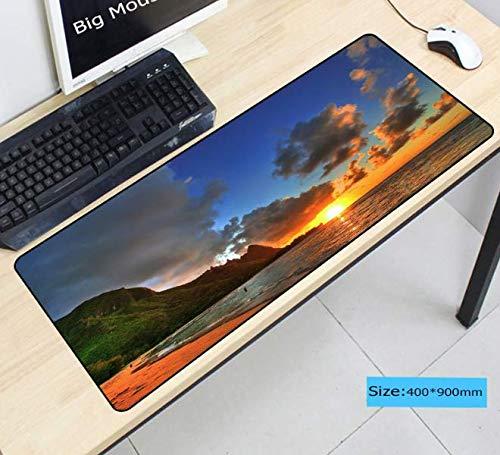 Computer Muismat Cloud Scenery Muismat Grote oplegger Laptop Mouse Computer tafel beschermer Geen geur Muismat 900 * 400 * 3 mm