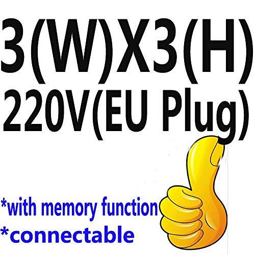 FENGZE 2X2m / 3X1 / 3X2 / 3X3m LED Eiszapfen Lichterketten Lichterketten Girlande Outdoor Home Für Hochzeit/Party/Vorhang/Decoration 3MX3M 220V...