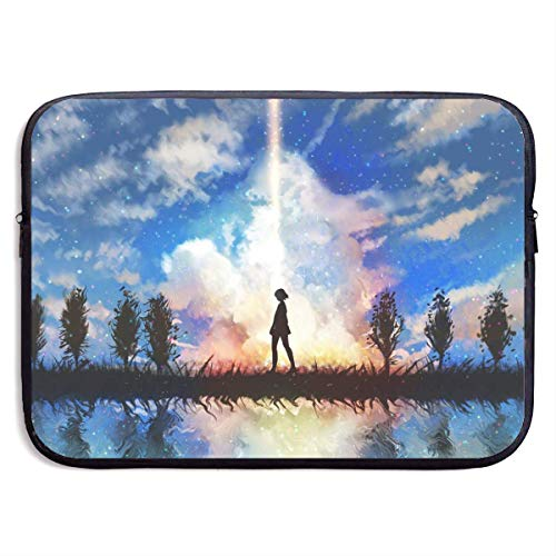 Hdadwy Anime Your Name Laptop Sleeve Bag 15 Inch Tablet Briefcase Ultra Portable Protective, Laptop Canvas Cover MacBook Air, MacBook Pro, Notebook Computer Sleeve Case