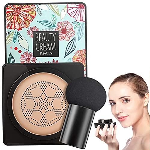Mushroom Head Air Cushion Foundation, CC Cream BB Creme Cover Concealer Even Skin Tone Makeup Base Concealer Make-up Für Frauen