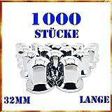 Tapacubos Easy Link 1000 x 32 mm, tapacubos de plástico cromado, SW32, para camiones