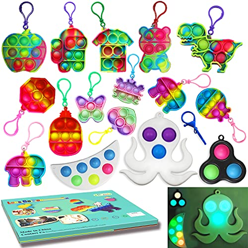 Pop Fidget Toys Pack Mini pop Autism Special Needs Stress Relief Silicone Pressure Relieving Toys...