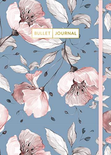 """Bullet Journal \""""Vintage Flowers\"""": Mit Punkteraster, Seiten für Index, Key und Future Log sowie Lesebändchen und praktischem Verschlussband"""
