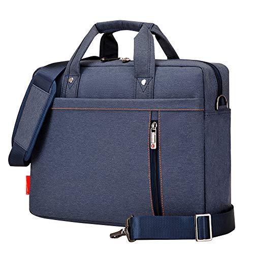 BOTRE Donne Uomo Borsa per Laptop in Nylon Borsa a Tracolla della Borsa Asciugamano Borsa da Viaggio per Documenti 13-17 Pollici Laptop MacBook Air Tablet (17.3Pollici, Blu)