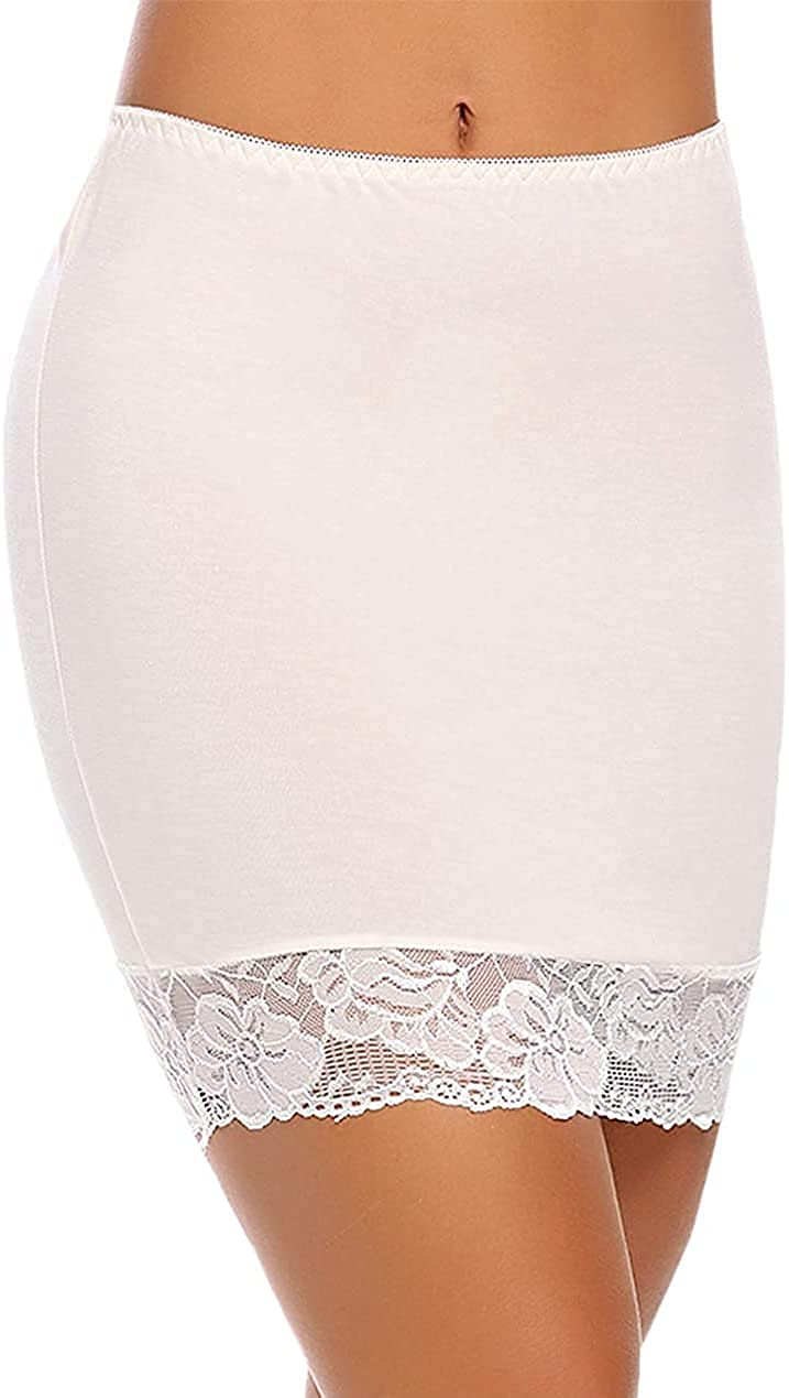 ADOME Women's Adjustable Cheap super special price Ranking TOP14 Waist Half Underskirt Short H Slip Lace