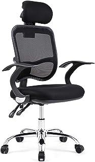 KFDQ Sillas de escritorio , Silla de oficina ergonómica Reclinable con respaldo alto Silla de escritorio para computadora con soporte lumbar Altura ajustable Asiento Reposacabezas Respaldo de malla t