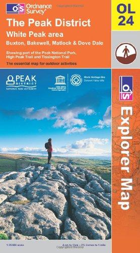 OS Explorer map OL24 : The Peak District