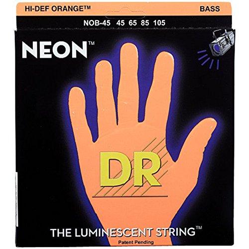 DR String NOB-45 Neon Orange Juego Cuerdas Bajo