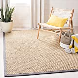 Safavieh Natural Fiber Collection NF114A Basketweave Natural and Beige Summer Seagrass Area Rug (11' x 15')