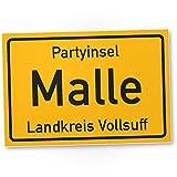 DankeDir! Partyinsel Malle - Kunststoff Schild (30 x 20 cm), Lustige Geschenkidee...