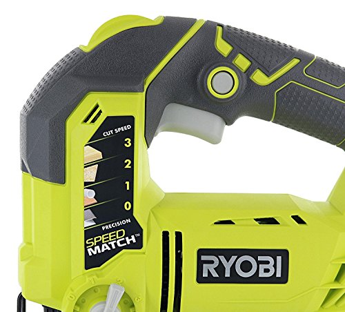 Product Image 4: Ryobi One+ P523 18V Lithium Ion Cordless Orbital T Shank 3,000 SPM Jigsaw (Battery Not Included, Power Tool and T Shank Wood Cutting Blade Only)