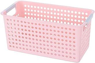 Storage Shelf لجرف التخزين Merge basket storage box plastic storage basket kitchen bathroom storage basket desktop storage box (尺寸 Size : S),Size:Small قفسه ذخیره سازی (Size : Medium)