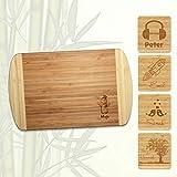 Bambus Schneidebrett personalisiert | Name | Motiv | Individuell | Geschenk | Vesperbrett | Brotzeitbrett | Kind (Mittel 30x20 cm)