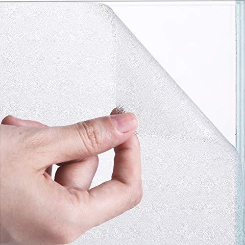 Fensterfolie selbsthaftend Blickdicht [90 x 200cm] Fensterfolie Bad, Sichtschutzfolie Fenster Fensterfolie Sichtschutz, Klebefolie Fenster Matt für Bad, Büro oder Zuhause, weiß (MEHRWEG)