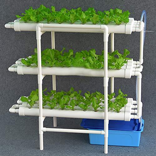 ZDYLM-Y Kit de Culture Hydroponique, 12 Pipes 3 Couches hydroponique Equipement de Plantation, tuyaux en PVC, Vertical Eau Culture Balcon Jardin Système